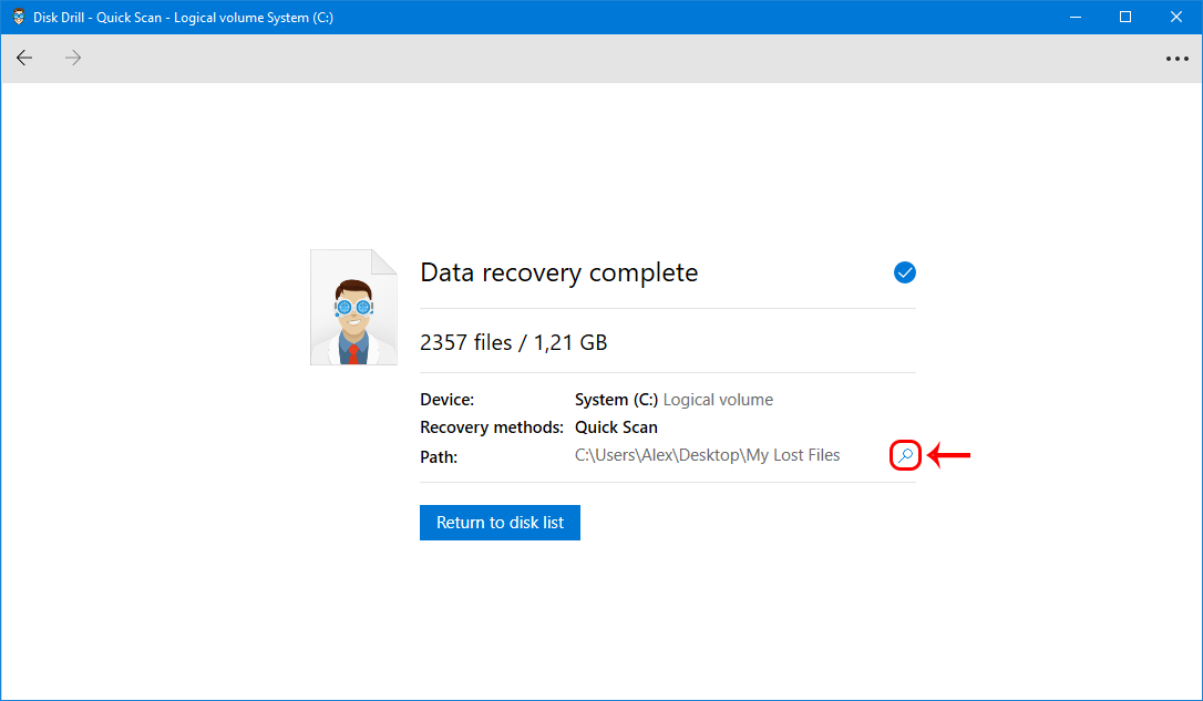 recover permanently deleted files in windows 10 with Disk Drill
