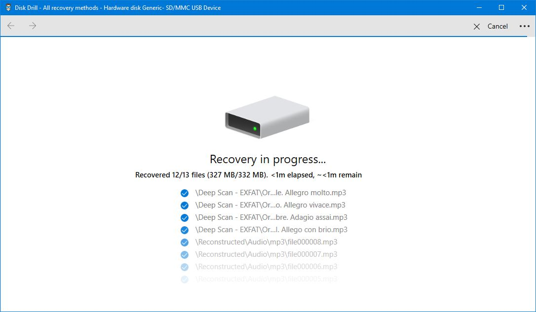 how to recover deleted audio files