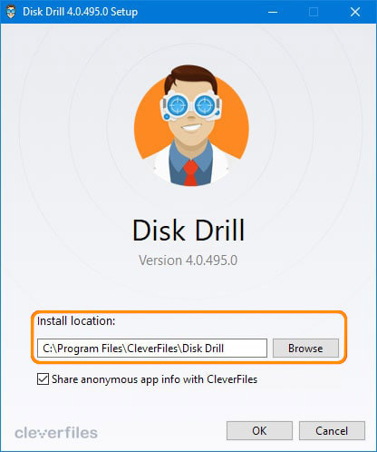 disk drill recovery software setup