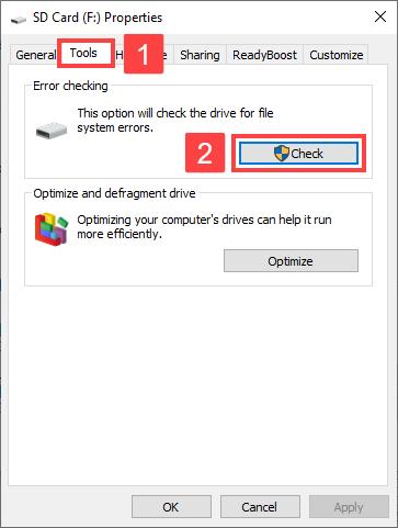 free sd card repair software