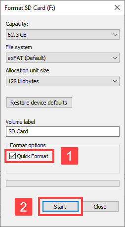 fast sd card repair tool