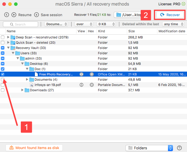 one click word document recovery with disk drill