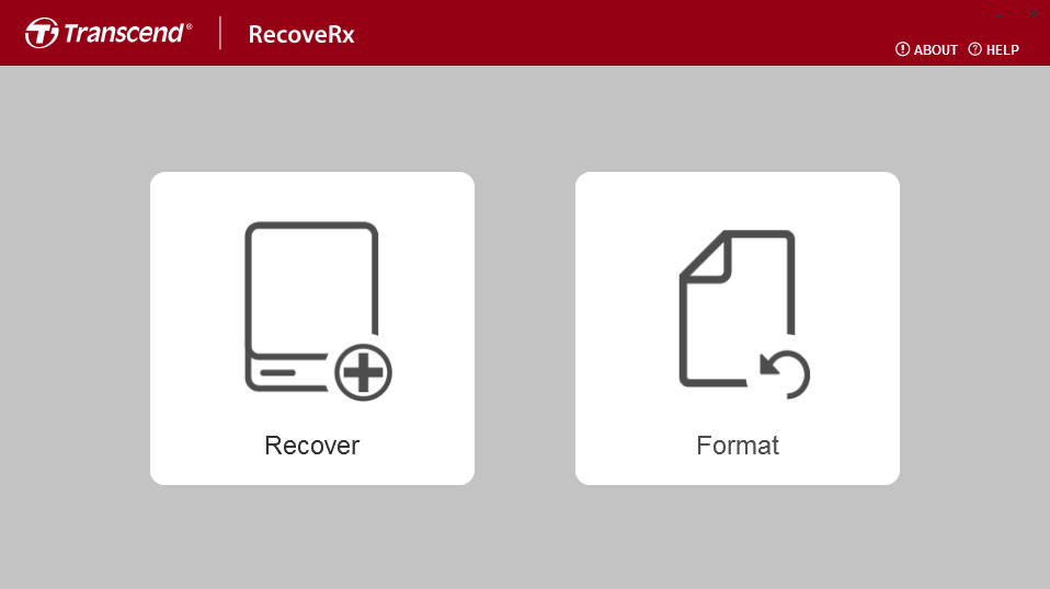 RecoveRx interface