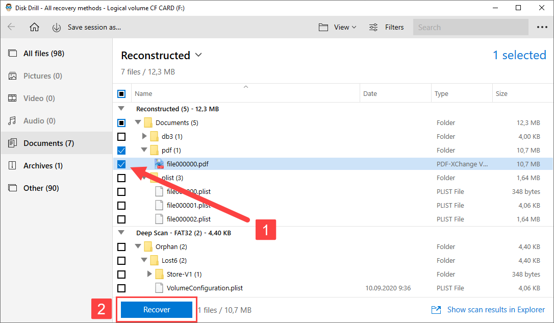 disk drill recover files