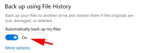 automatically back up files