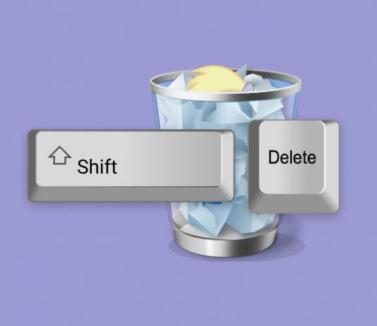 Recover shift deleted files