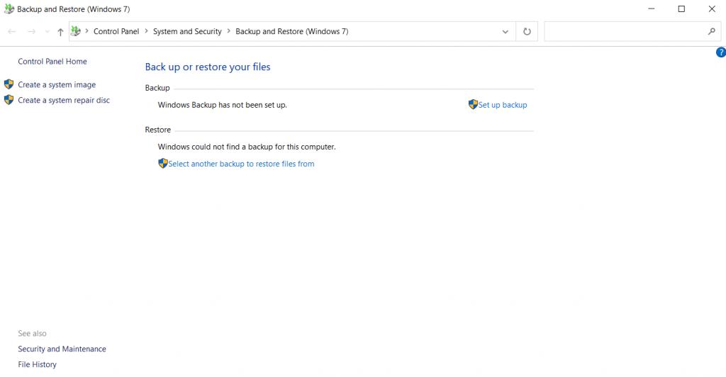 Backup and Restore Windows 7