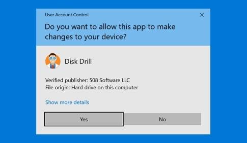 disk drill setup